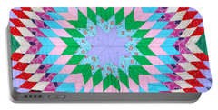 Vibrant Quilt Portable Battery Charger
