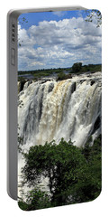 Victoria Falls On The Zambezi River Portable Battery Charger by Aidan Moran