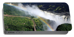Rainbow Over Victoria Falls  Portable Battery Charger