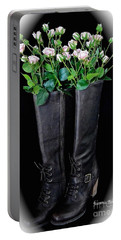 Victorian Black Boots Portable Battery Charger