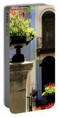 Victorian House Flowers Portable Battery Charger