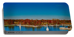 Portable Battery Charger featuring the photograph View From Art Hill Forest Park Missouri by Peggy Franz