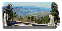 View From Mt. Mitchell Summit Portable Battery Charger by Lydia Holly