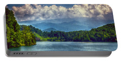 View From The Great Smoky Mountains Railroad Portable Battery Charger