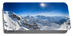 View From Titlis Mountain Towards The South Portable Battery Charger