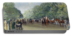 View Of Hyde Park With Figures On Rotten Row  Portable Battery Charger