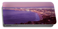 View Of Los Angeles Downtown Portable Battery Charger by Panoramic Images