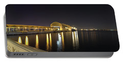 View Of Pier 6 At Night, Bahia Urbana Portable Battery Charger