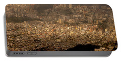 View Of Quito From The Teleferiqo Portable Battery Charger by Eleanor Abramson