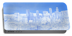 View Of Skylines In A City, City Of Los Portable Battery Charger