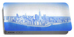 View Of Skylines In A City, Lake Portable Battery Charger