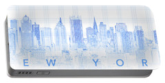 View Of Skylines In A City, Manhattan Portable Battery Charger