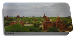 Portable Battery Charger featuring the photograph View Of Smaller Temples Next To Dhammayazika Pagoda Built In 1196 By King Narapatisithu Bagan Burma by Ralph A  Ledergerber-Photography