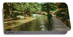 View Of The San Antonio River Walk, San Portable Battery Charger