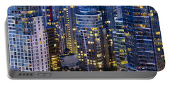 Portable Battery Charger featuring the photograph View Towards Coal Harbor Vancouver Mdxxvii  by Amyn Nasser