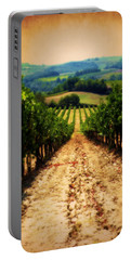 Portable Battery Charger featuring the photograph Vigneto Toscana by Micki Findlay