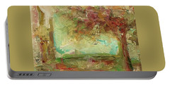 Portable Battery Charger featuring the painting Villa by Mary Wolf