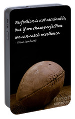 Vince Lombardi On Perfection Portable Battery Charger by Edward Fielding