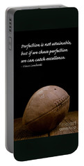 Vince Lombardi On Perfection Portable Battery Charger