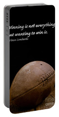 Vince Lombardi On Winning Portable Battery Charger
