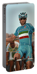Vincenzo Nibali Painting Portable Battery Charger by Paul Meijering