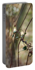 Vine On Rusted Fence Portable Battery Charger