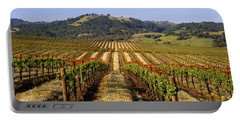 Vineyard, Geyserville, California, Usa Portable Battery Charger