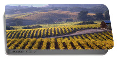 6b6386-vineyard In Autumn Portable Battery Charger
