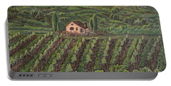 Vineyard In Neuchatel Portable Battery Charger by Felicia Tica