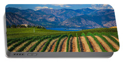 Vineyard In The Mountains Portable Battery Charger by Inge Johnsson