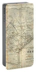 Vintage 1841 Texas Map Portable Battery Charger