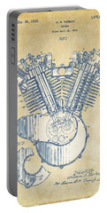 Vintage 1923 Harley Engine Patent Artwork Portable Battery Charger