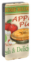 Vintage Apple Pie Sign Portable Battery Charger by Jean Plout