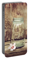 Vintage Ball Mason Jar Portable Battery Charger by Terry DeLuco