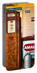 Portable Battery Charger featuring the photograph Vintage Bassett Gas Pump   by Lesa Fine