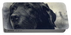 Vintage Black Lab Portable Battery Charger by Eleanor Abramson