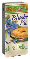 Vintage Blueberry Pie Sign Portable Battery Charger