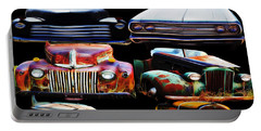 Vintage Cars Collage 2 Portable Battery Charger by Cathy Anderson