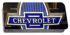 Portable Battery Charger featuring the photograph Vintage Chevrolet Logo by Joan Reese