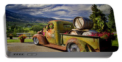 Vintage Chevy Truck At Oliver Twist Winery Portable Battery Charger