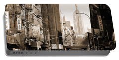 Vintage Chinatown And Empire State Portable Battery Charger