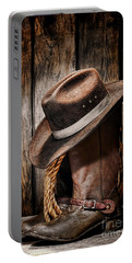 Vintage Cowboy Boots Portable Battery Charger