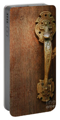 Portable Battery Charger featuring the photograph Vintage Door Handle by Patrick Shupert