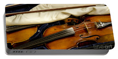 Vintage Fiddle In The Case Portable Battery Charger