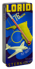 Vintage Florida Travel Poster Portable Battery Charger