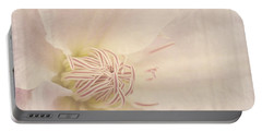 Vintage Flower Art - A Beautiful Place Portable Battery Charger
