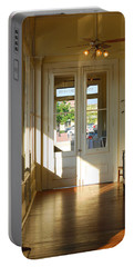 Portable Battery Charger featuring the photograph Vintage Foyer Filled With Light - The Ant Street Inn by Connie Fox