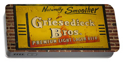 Vintage Griesedieck Bros Beer Dsc07192 Portable Battery Charger by Greg Kluempers