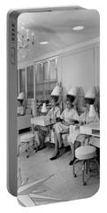 Vintage Hair Salon 2 Portable Battery Charger