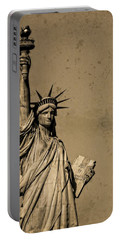 Vintage Lady Liberty Portable Battery Charger